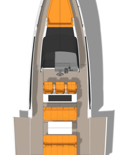 Dinette with side terraces open